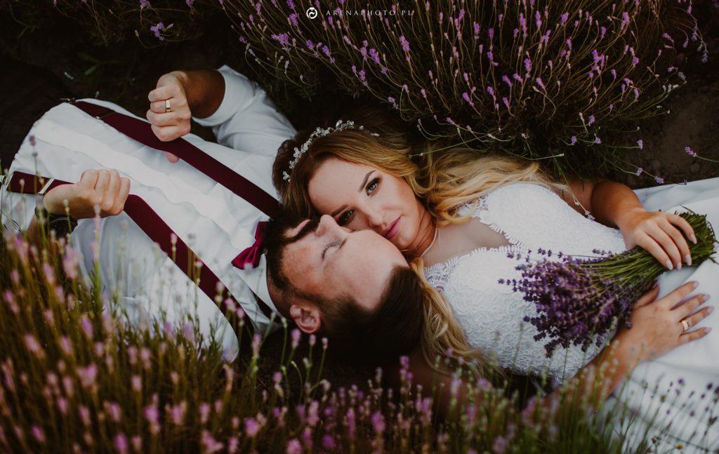 Sesja ślubna w lawendzie, fotograf wielkopolska